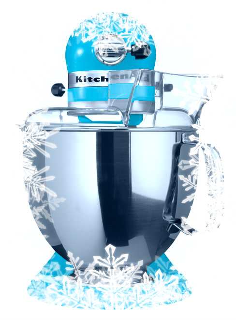 kitchen aid bleu lagon- vue de face - Noel