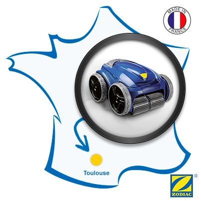 Zodiac robot piscine fabriqué en France