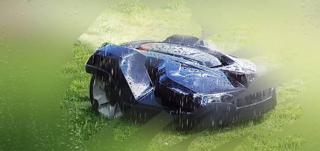 husqvarna automower - Tond sous la pluie