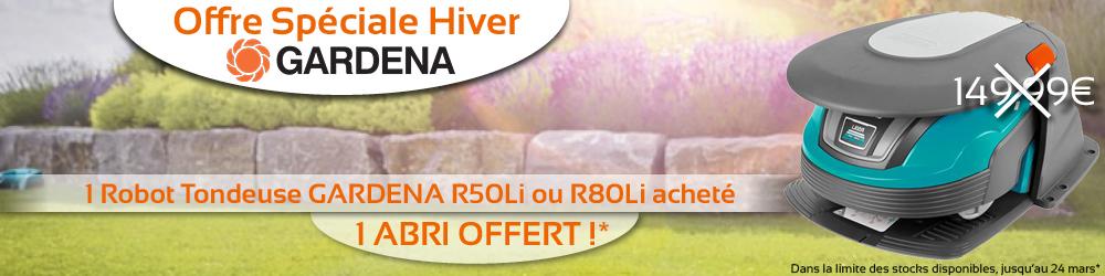 Banniere gardena Abri offert
