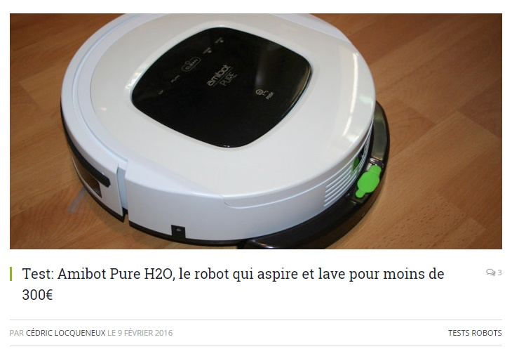 Test Amibot Pure H2O maison et domotique