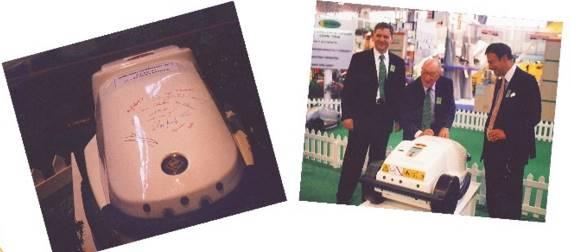 Robot tondeuse - 1ère présentation en 1997