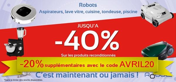 -20% supplémentaires avec le code AVRIL20