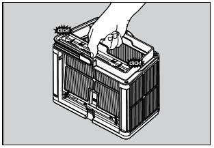 3 - Réassemblez les panneaux de filtrage.