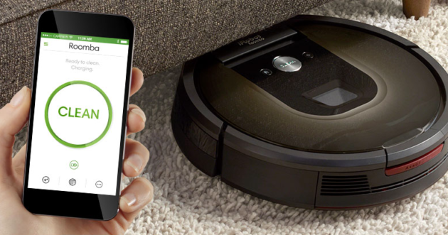 roomba application mise à jour historique clean map alexa