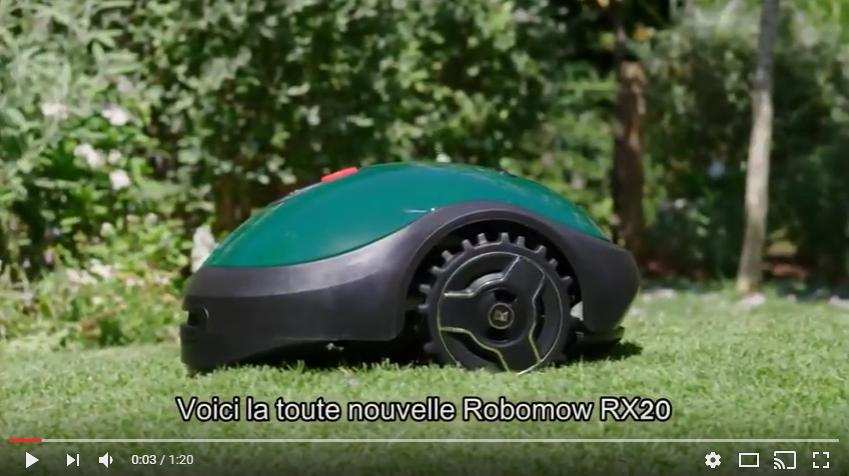 rx20 robomow robot tondeuse vidéo