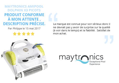 avis client robot piscine maytronics dolphin amipool x3