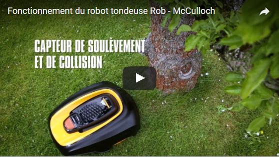 vidéo mc culloch robot tondeuse