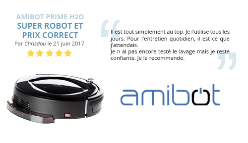 avis client robot aspirateur prime h2o amibot
