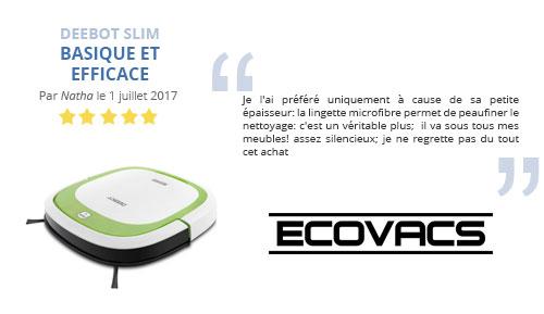 avis client robot aspirateur ecovacs slim