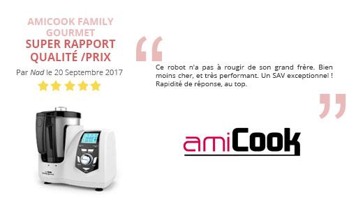 avis client robot cuisine multifonction amicook family gourmet