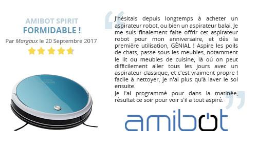 avis client robot aspirateur amibot spirit