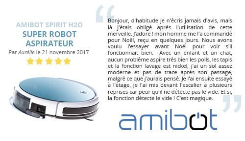avis client robot aspirateur amibot spirit h2o