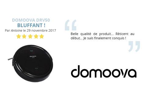 avis client robot aspirateur laveur domoova drv50