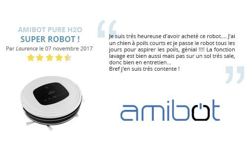 avis client robot aspirateur laveur amibot pure h2o