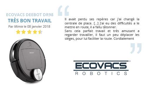 avis client robot aspirateur ecovacs deebot dr98