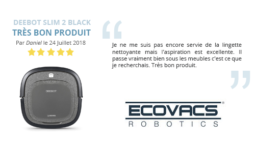 Avis client robot aspirateur Ecovacs DEEBOT Slim 2 Black