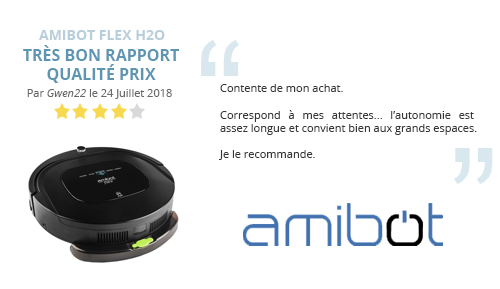 avis client robot aspirateur AMIBOT Flex H2O