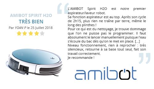 avis client AMIBOT Spirit H2O robot aspirateur