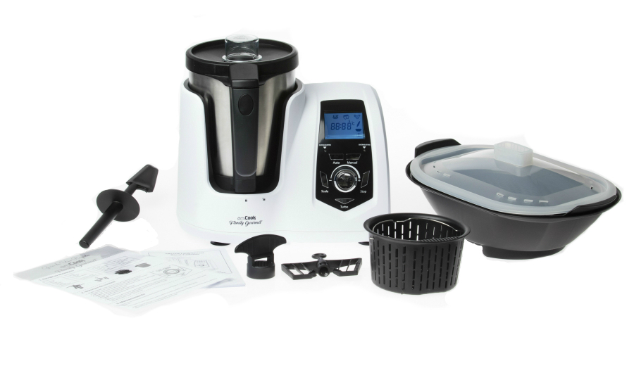Le Family Gourmet réunis tous les accessoires nécessaires pour un robot-cuiseur.