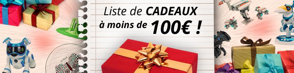 liste cadeaux moins cent euros