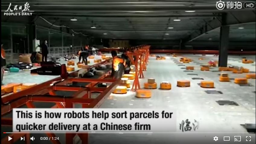 vidéo robots tri