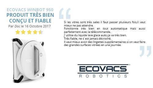 avis robot lave vitre ecovacs winbot 950