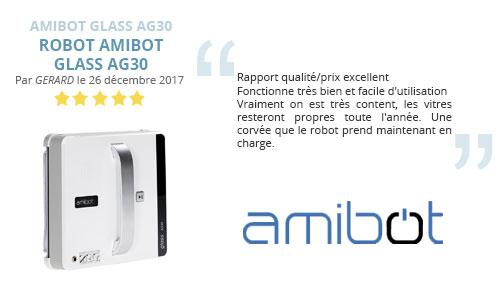 avis client robot lave vitre amibot glass ag30