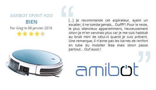 avis client robot aspirateur laveur de sols amibot spirit h2o