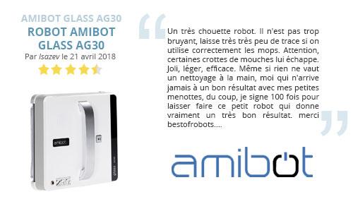 avis client amibot AG30 robot lave vitre