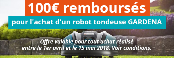 Offre de remboursement robot tondeuse GARDENA