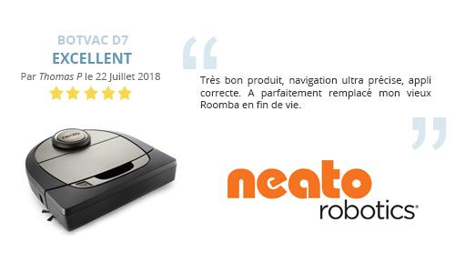 avis-client robot aspirateur Neato Botvac D7 Connecté