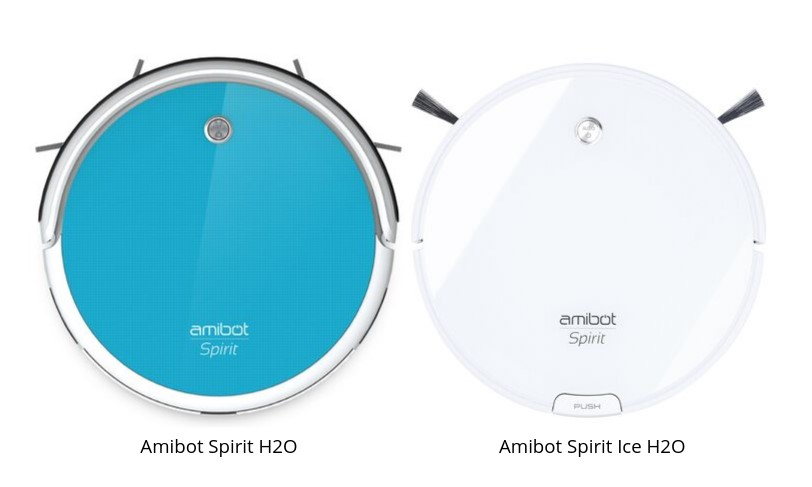 Robot aspirateur et laveur AMIBOT Spirit Ice H2O BestofRobots