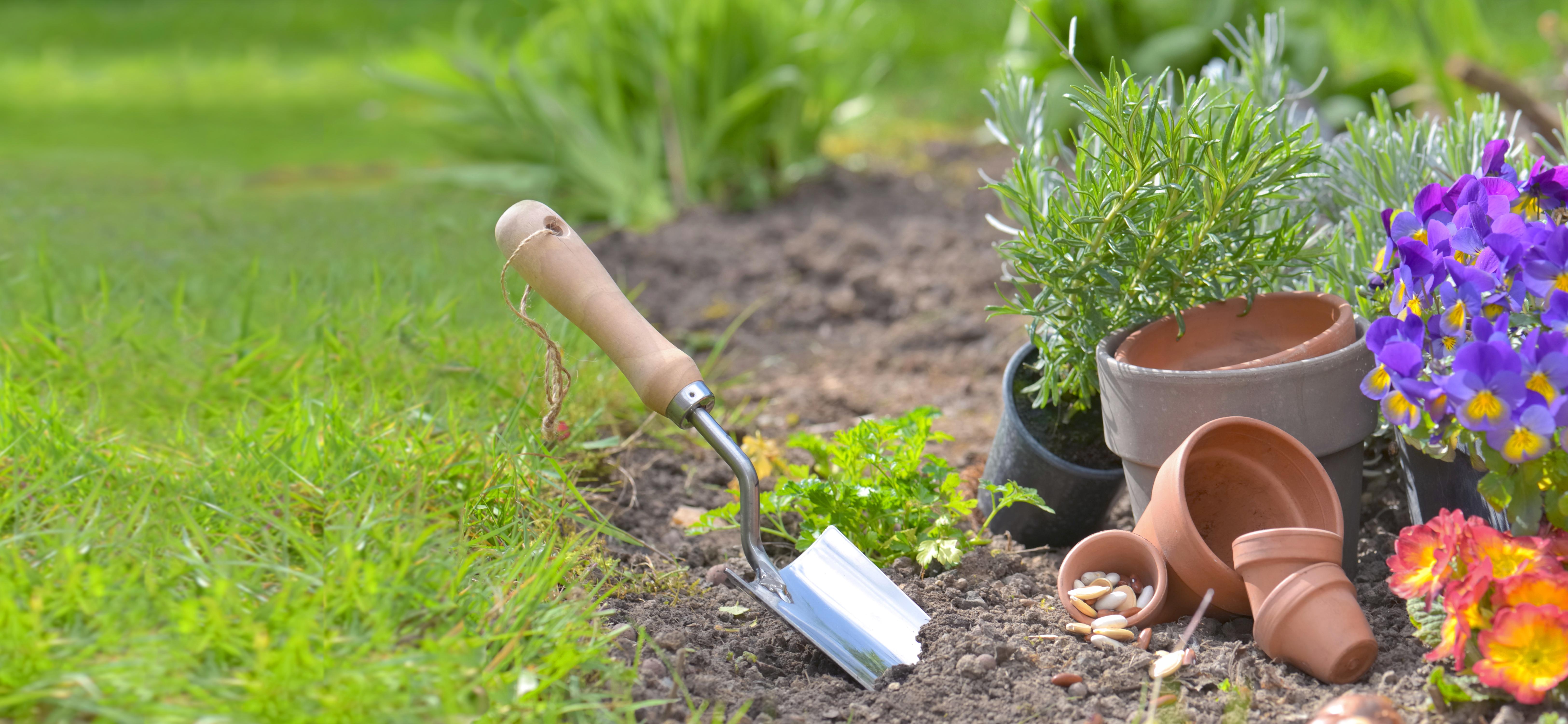 pelle outil qui peut attirer l'attention jardin