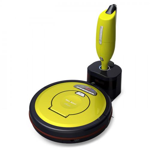 MamiRobot SEVIAN K7 Lime - Robot aspirateur + Aspirateur manuel