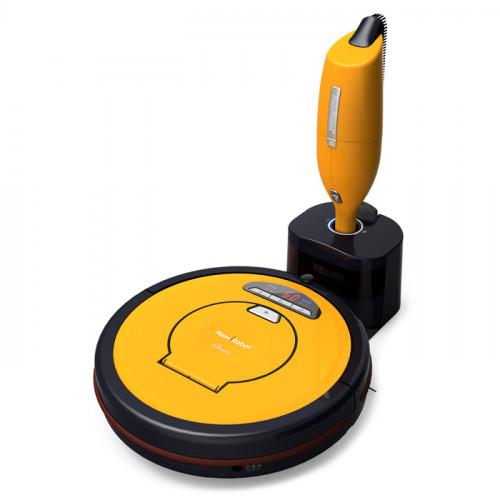 MamiRobot SEVIAN K7 Orange - Robot aspirateur + Aspirateur manuel