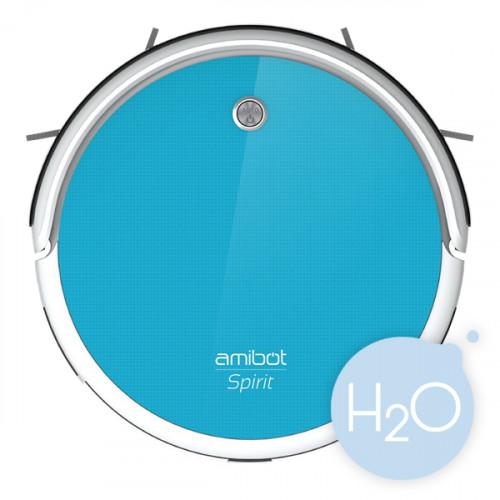 Robot Aspirateur Et Laveur AMIBOT Spirit HO BestofRobots - Plinthe carrelage et tapis de bain bleu lagon