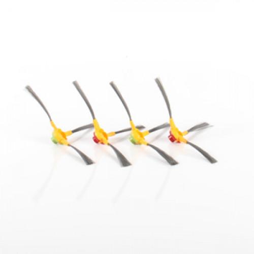 Pack Ecovacs DEEBOT ( 2 brosses latérales gauche + 2 droites) D68 / D77 / D79 / D83