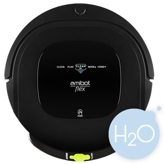 robot aspirateur et laveur amibot flex h2o bestofrobots. Black Bedroom Furniture Sets. Home Design Ideas