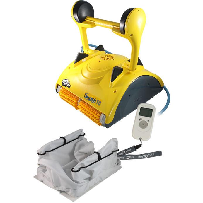 Robot de piscine maytronics dolphin swash tc bestofrobots for Avis robot piscine dolphin