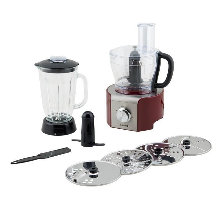 Robot multifonctions h koenig mx18 rouge bestofrobots - Comparatif robot cuisine multifonction ...