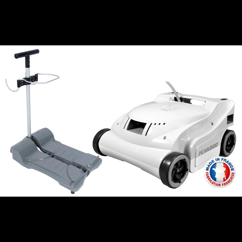 Robot de piscine lectrique kwadoo chariot bestofrobots for Avis robot piscine