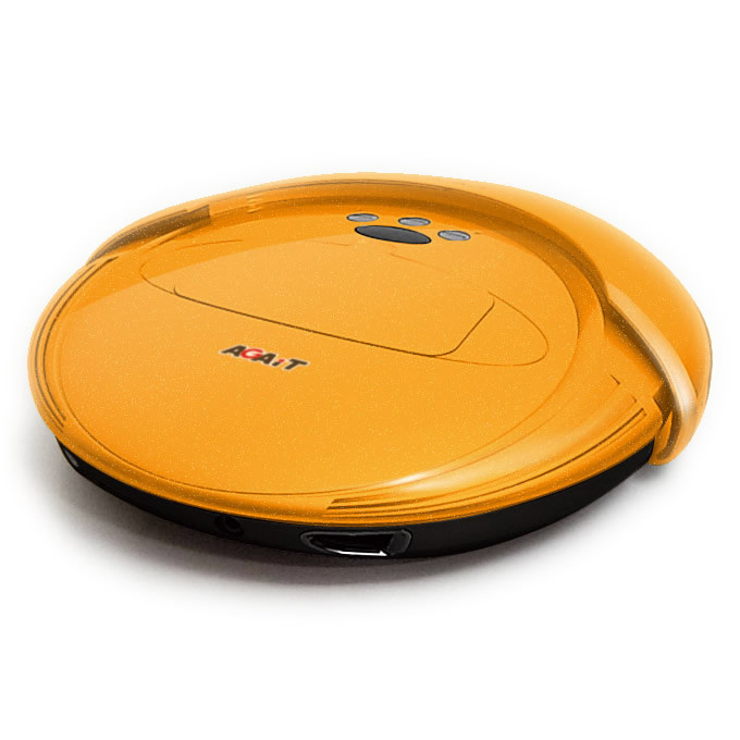 aspirateur robot agait eclean ec02 jaune bestofrobots. Black Bedroom Furniture Sets. Home Design Ideas