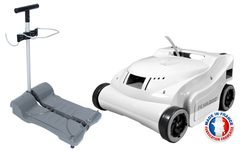 Robot de piscine lectrique kwadoo chariot bestofrobots for Comparatif robot piscine electrique