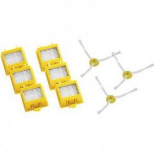 Kit d'accessoires 6 filtres et 3 brosses latérales ROOMBA série 7XX