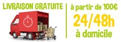 Livraison gratuite, à partir de 100€, 24/48h à domicile