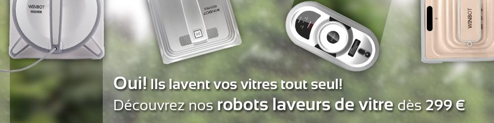 Oui! Ils lavent vos vitres tout seul! Découvrez nos robots laveurs de vitre dès 299 euros