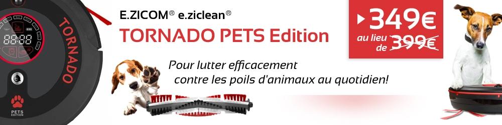 E.ziclean TORNADO PETS Edition, pour lutter efficacement contre les poils d'animaux au quotidien!
