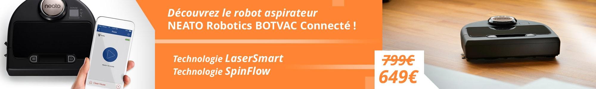 robot aspirateur BotVac connecté