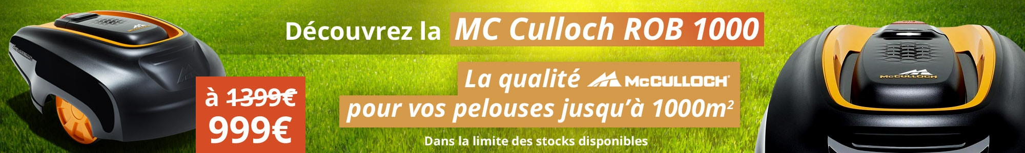 Découvrez la MC Culloch ROB 1000